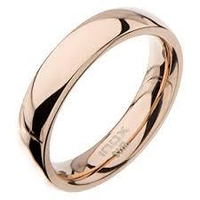 Buy Inox Jewelry Rose Gold <b>Stainless Steel</b> Polished <b>4mm</b> Band ...