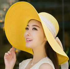 yellow <b>BINGYUANHAOXUAN</b> UV Protect <b>Hat Lady</b> Summer Wide ...