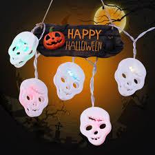 2018 1.2M Happy <b>Halloween Decorations Pumpkin Skull</b> LED String ...