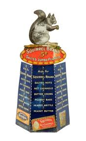images about old general stores original squirrel brand salted peanuts tin store advertising display