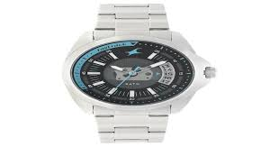 Buy Fastrack Black Round Dial <b>Stainless Steel Strap</b> Analog With ...
