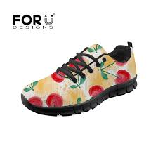 <b>FORUDESIGNS Women</b> Sneakers Shoes Mesh Lace up Cherry ...