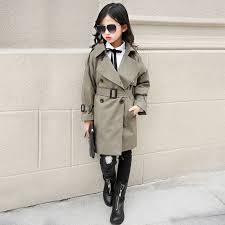 <b>Girls trench spring autumn</b> kids fashion cotton long coats for <b>girls</b> ...