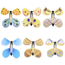 6 pcs Flying Butterfly Wind Up Swallow Tail Butterfly Magic <b>Funny</b> ...