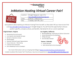 inmotion hosting virtual career fair inside inmotion hosting inmotion hosting virtual career fair