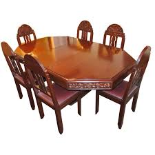 unique art deco french carved dining table with chairs 1 art deco dining table high