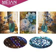 Meian,<b>5D</b>,<b>Special</b> Shaped,<b>Diamond Embroidery</b>,Flower,Vase,Full ...