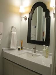 white mirrored bathroom wall cabinets:  customized black framed wall mirror for bathroom wall mirror ideas large size