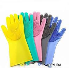 SAFEYURA Magic <b>Silicone</b> Cleaning Hand Gloves for Kitchen ...