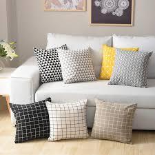 Buy 1 Piece Square Cushion Cover <b>Nordic Style</b> Geometric Print ...
