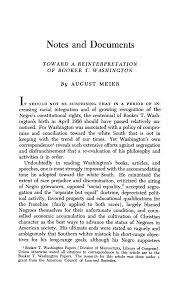 Toward a Reinterpretation of <b>Booker T</b>. Washington