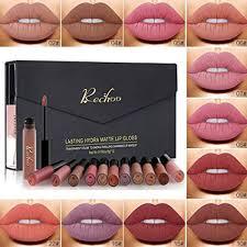 Coosa <b>12 Colors</b> Nude <b>Matte Liquid Lipstick</b> Non-Stick Cup ...