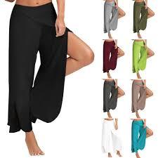 <b>hot</b> Spring <b>Summer 2019</b> Pants Broad legged Pants 11 Colors 8 yards