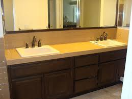 reglazing tile certified green: pkb reglazing worn tile bathroom countertop after reglazed latte