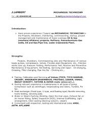 mechanical resume