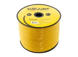 <b>SWAT SCW</b>-8Y <b>силовой кабель</b> 8Ga/8мм2, желтый, ССА,100м ...