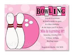 birthday invitations bowling party invitations templates ideas bowling party invitations for girls