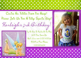 tinkerbell birthday invitations tinkerbell birthday invitations