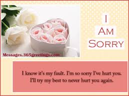 Sorry Messages for Husband Messages, Greetings and Wishes ...