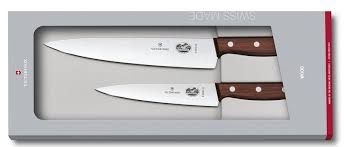 <b>Victorinox</b> Rosewood Carving Knife with Chef Knife Set [<b>5.1050</b>.<b>2G</b>]
