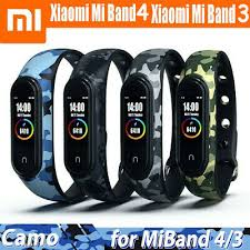 Camouflage <b>Strap</b> For Xiaomi MI <b>Band</b> 4 3 <b>Silicone Replacement</b> ...