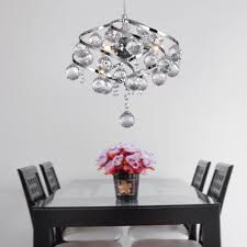 dinggumodern chrome finish iron crystal chandelier pendant lighting for kitchen island and dining room chandelier pendant lighting