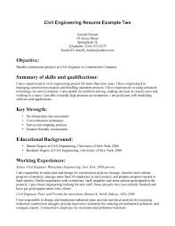 civil example job samples objective statement for engineering resume