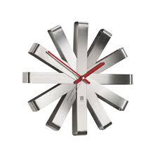 <b>Часы настенные Ribbon</b>, <b>стальные</b> (артикул 7009.10) - Проект 111