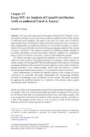 essay 15 an analysis of causal contribution co authored inside