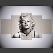 <b>5</b> pcs <b>Large HD</b> Marilyn Monroe Wall Art <b>Print</b> on Canvas Home ...
