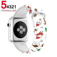 <b>Merry Christmas</b> & other Festive Patterns <b>Silicone</b> Apple Watchband ...