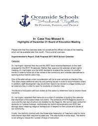 oceanside school district board of education meeting summary