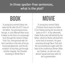 movie versus book oscar nominee extremely loud and incredibly movie book extremely loud