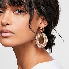 2019 <b>Fashion ZA Jewelry</b> Acrylic Resin Oval Dangle Earrings For ...