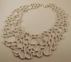 SHIPPING SALE <b>Silver</b> Cellular Loops Necklace by redthreadletter ...