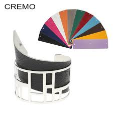 <b>Cremo</b> Labyrinth Bangles Interchangeable Reversible Wide Leather ...