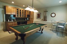 kitchen room pull table: furniturebreathtaking basement pool table with brown wooden frame over antique ceiling lamps combine stone