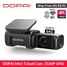 <b>DDPAI Mini 5</b> Dash Cam <b>4K 2160P</b> UHD Speed & Coordinates GPS ...
