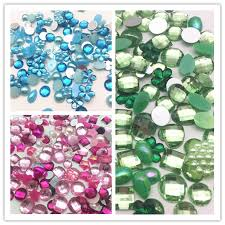 <b>200pcs Mixed</b> Heart Bow Flower Pearls Gems Resin Flatbacks ...