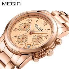 MEGIR Chronograph Women Watches <b>Relogio Feminino Luxury</b> ...