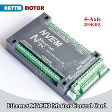 <b>4</b> Axis Ethernet <b>NVEM CNC</b> Controller 200KHZ <b>MACH3</b> Motion ...