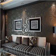 <b>Q QIHANG</b> 3D Abstract Curve <b>Luxury</b> Flocking Striped Wallpaper ...
