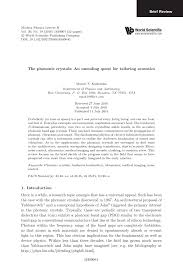 (PDF) The phononic crystals: An unending quest for <b>tailoring</b> acoustics