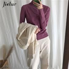Online Shop <b>Jielur</b> T Shirt Women <b>Korean</b> Fashion Pure <b>Color</b> Basic ...