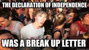 Image result for funny picture declaration of independence