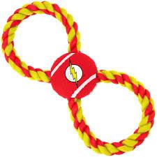 <b>Игрушка Buckle-Down Флэш</b> мульти мячик на верёвке для собак ...