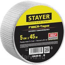 <b>Серпянка самоклеящаяся FIBER</b>-<b>Tape</b>, 5 см х 45 м, <b>STAYER</b> ...