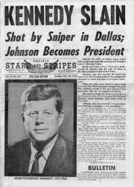 「On November 22, 1963, after less than three years in office, Kennedy was assassinated while riding in an open-car motorcade with his wife in Dallas, Texas.」の画像検索結果