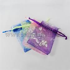 Wholesale <b>Organza</b> Bags, Rectangle, <b>Mixed Color</b>, 12x9cm ...