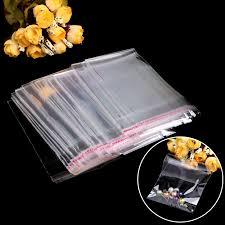 <b>100 pcs Plastic</b> Clear OPP Self Adhesive Seal Bag Reusable ...
